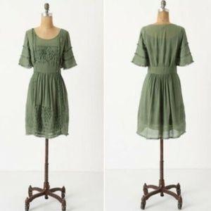 Lil Anthropologie Sage Green Laced w/ Grace Dress